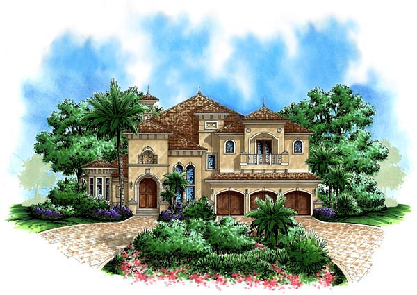 Florida Mediterranean House Plan 60440 Elevation