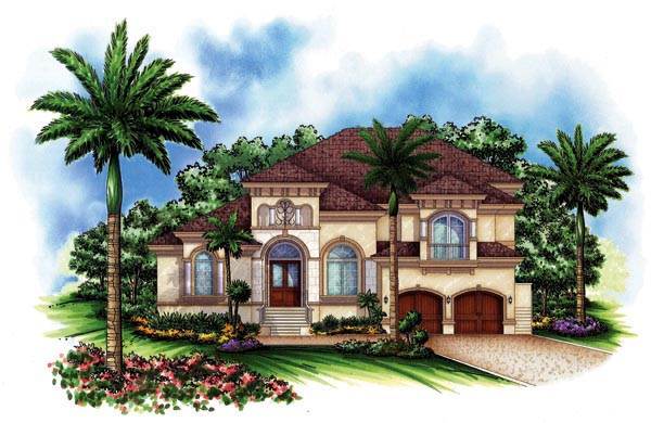 Florida Mediterranean House Plan 60443 Elevation