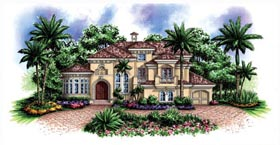 Florida Mediterranean House Plan 60444 Elevation