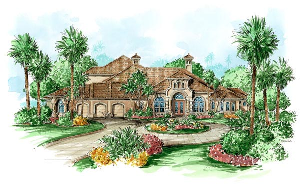Florida Mediterranean House Plan 60445 Elevation