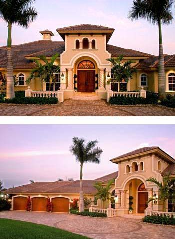 Florida Mediterranean House Plan 60445