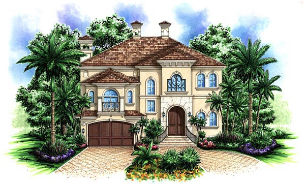 Florida Mediterranean House Plan 60446 Elevation