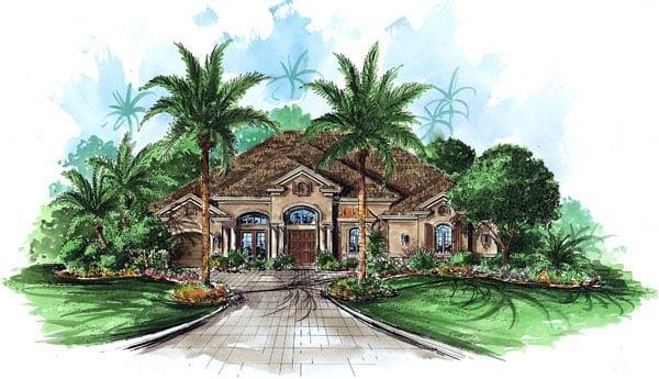 Florida Mediterranean House Plan 60447 Elevation