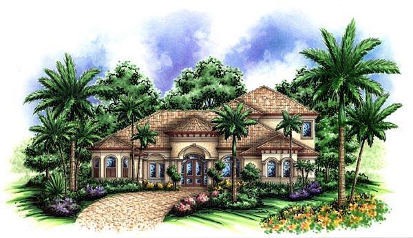 Florida Mediterranean House Plan 60448 Elevation