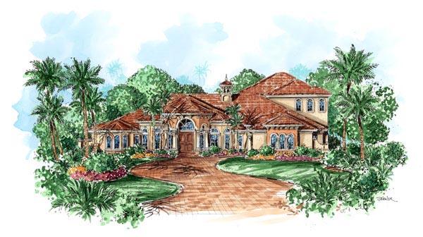 Florida Mediterranean House Plan 60449 Elevation