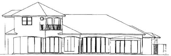 Florida Mediterranean House Plan 60449 Rear Elevation