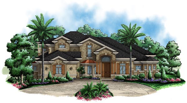 European Florida Mediterranean House Plan 60452 Elevation