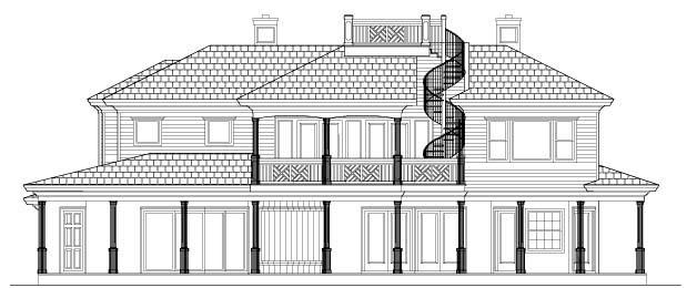 Florida Mediterranean House Plan 60455 Rear Elevation