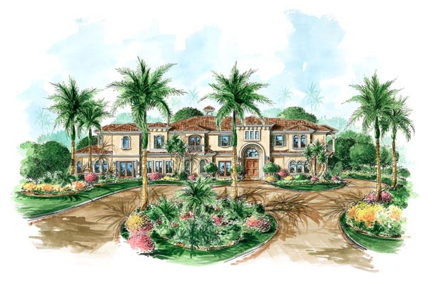 Florida Mediterranean House Plan 60458 Elevation