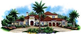 Florida , Mediterranean House Plan 60459 with 4 Beds, 5 Baths, 3 Car Garage Elevation