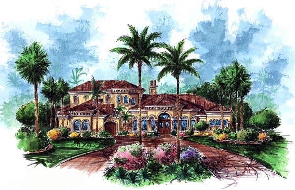 Florida Mediterranean House Plan 60460 Elevation