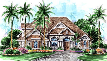 Florida Mediterranean House Plan 60461 Elevation