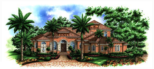 Florida Mediterranean House Plan 60463 Elevation