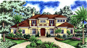 Florida Mediterranean House Plan 60465 Elevation