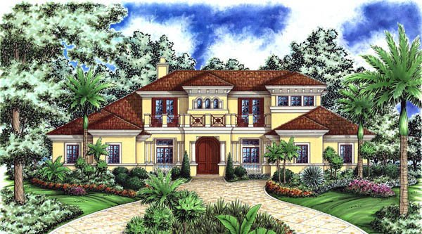 Florida Mediterranean House Plan 60465 Elevation