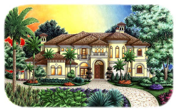 Florida Mediterranean House Plan 60466 Elevation