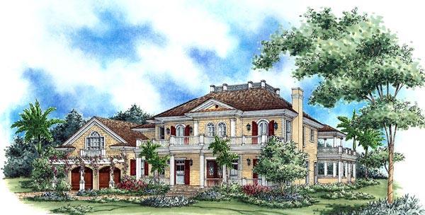 Florida Mediterranean House Plan 60467 Elevation