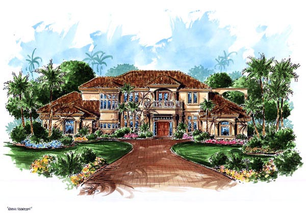 Florida Mediterranean House Plan 60468 Elevation