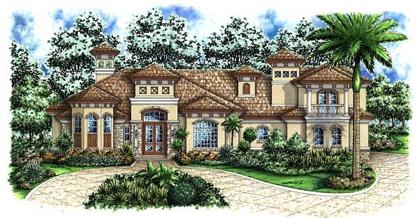 Florida Mediterranean House Plan 60470 Elevation