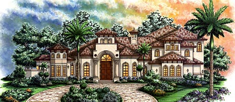 Florida Mediterranean House Plan 60471 Elevation
