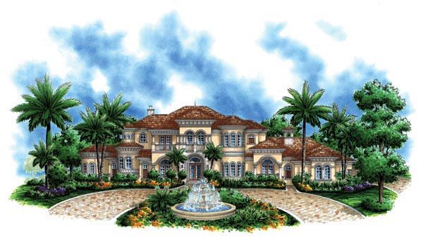 Florida Mediterranean House Plan 60476 Elevation
