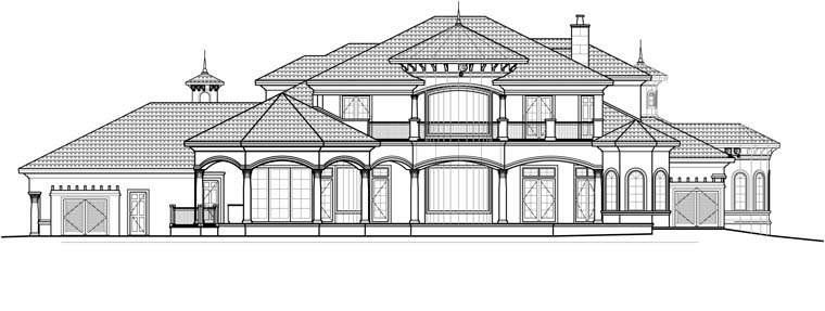 Florida Mediterranean House Plan 60476 Rear Elevation