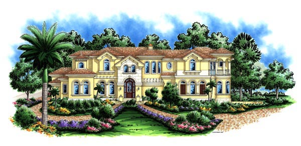 Florida Mediterranean House Plan 60477 Elevation