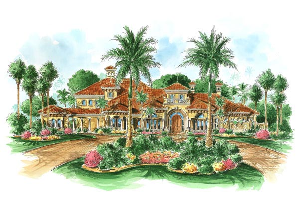 Florida Mediterranean House Plan 60478 Elevation