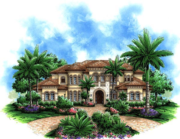 Florida Mediterranean House Plan 60479 Elevation