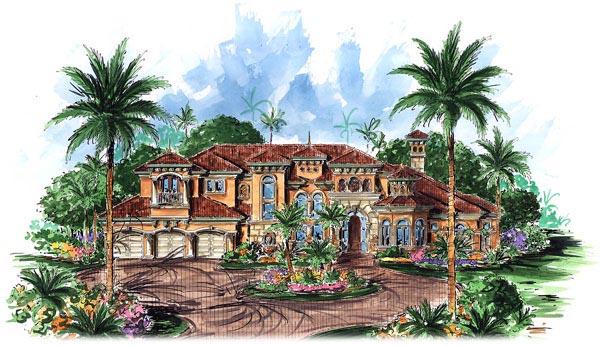 Florida Mediterranean House Plan 60480 Elevation