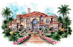 Florida Mediterranean House Plan 60481 Elevation
