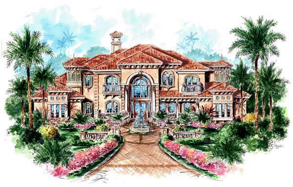 Florida Mediterranean House Plan 60481 Elevation