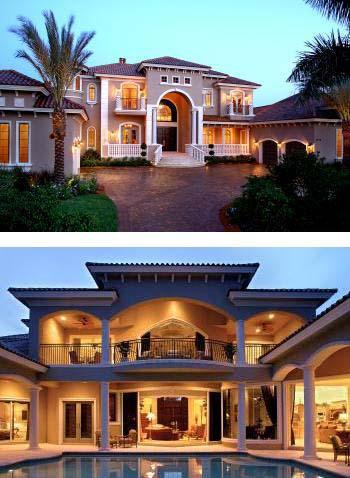Florida Mediterranean House Plan 60481