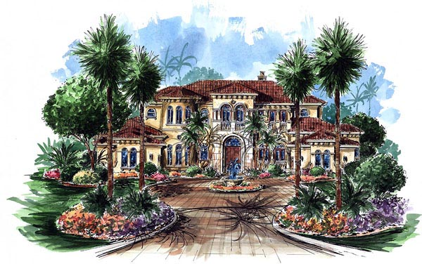 Florida Mediterranean House Plan 60482 Elevation