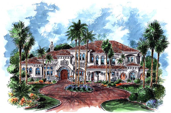 Florida Mediterranean House Plan 60483 Elevation