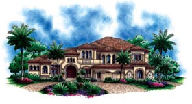 Florida Mediterranean House Plan 60484 Elevation