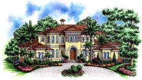 Florida Mediterranean House Plan 60485 Elevation