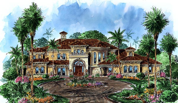 Florida Mediterranean House Plan 60486 Elevation