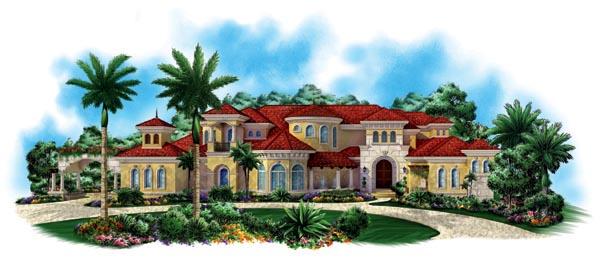 Florida Mediterranean House Plan 60488 Elevation