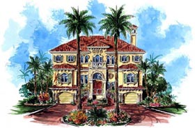Florida Mediterranean House Plan 60490 Elevation