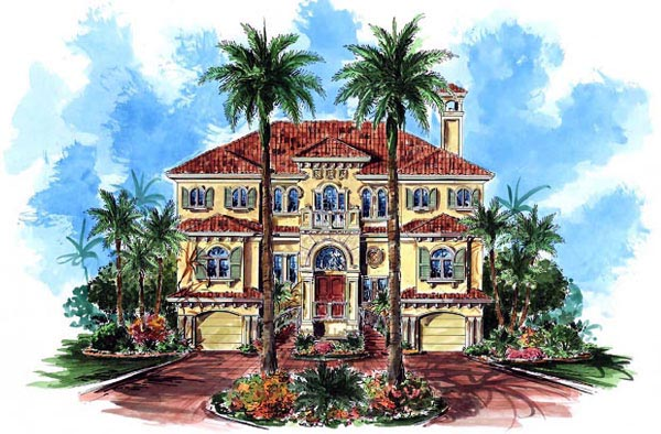 Florida Mediterranean House Plan 60490 Elevation