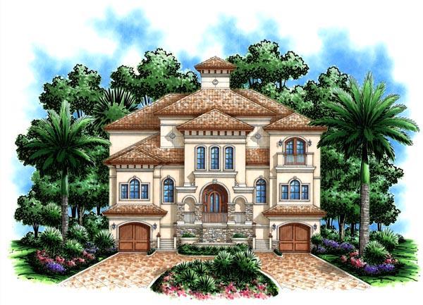Florida Mediterranean House Plan 60491 Elevation