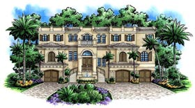 Florida Mediterranean House Plan 60493 Elevation