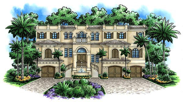 Florida Mediterranean House Plan 60493 Elevation