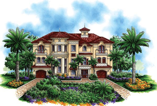 Florida Mediterranean House Plan 60494 Elevation