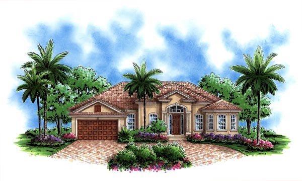 Florida Mediterranean House Plan 60497 Elevation