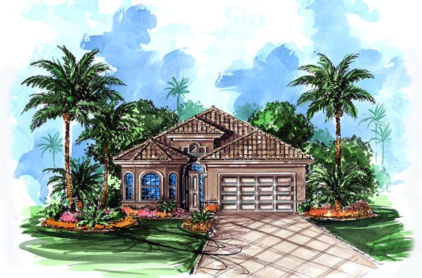 Florida Mediterranean House Plan 60498 Elevation