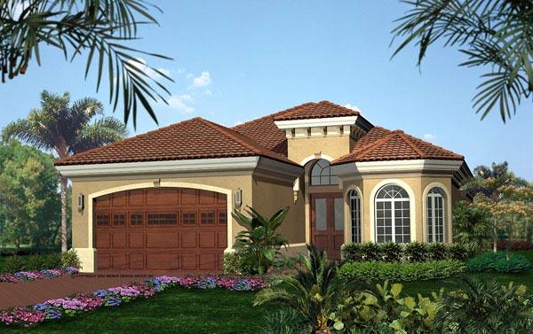 Florida Mediterranean House Plan 60500 Elevation