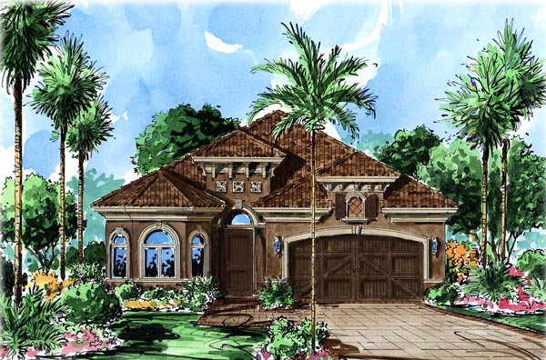 Florida Mediterranean House Plan 60501 Elevation