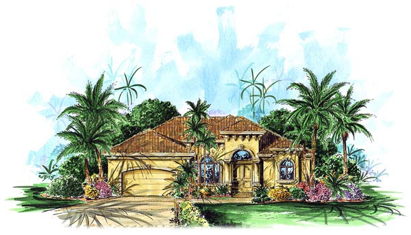 Florida Mediterranean House Plan 60503 Elevation